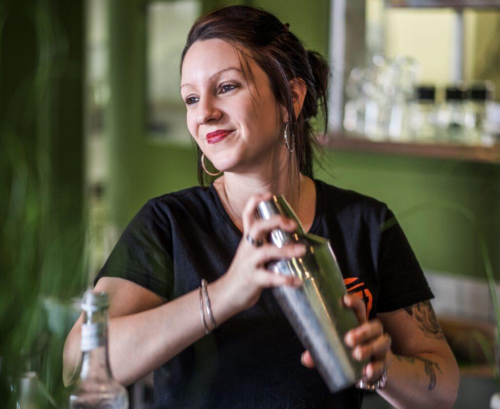 Préparation d'un cocktail