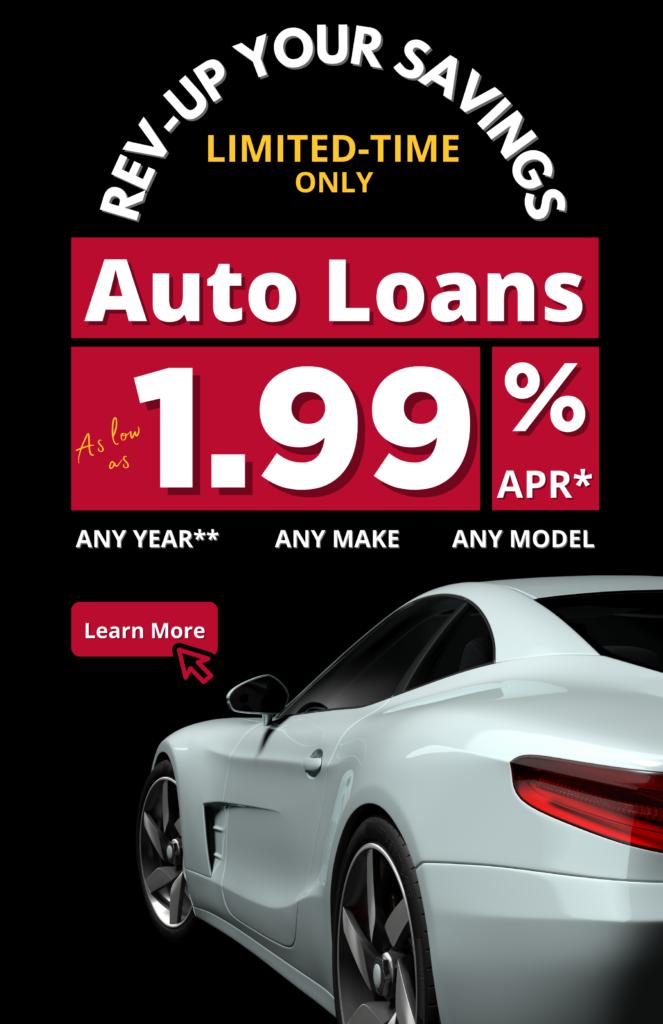Auto Loans 1.99% APR