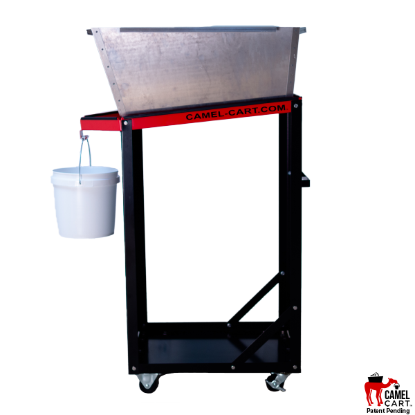 Tall Camel Cart with Aluminum Bin