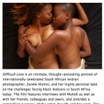 Difficult Love a Film by Zanele Muholi