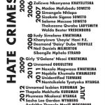 Hate Crimes South Africa:  2001 - July 2012