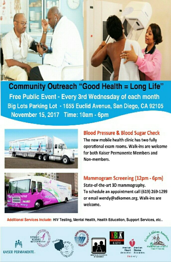 Community Health Outreach Event @ Big Lots Parking Lot | San Diego | California | United States