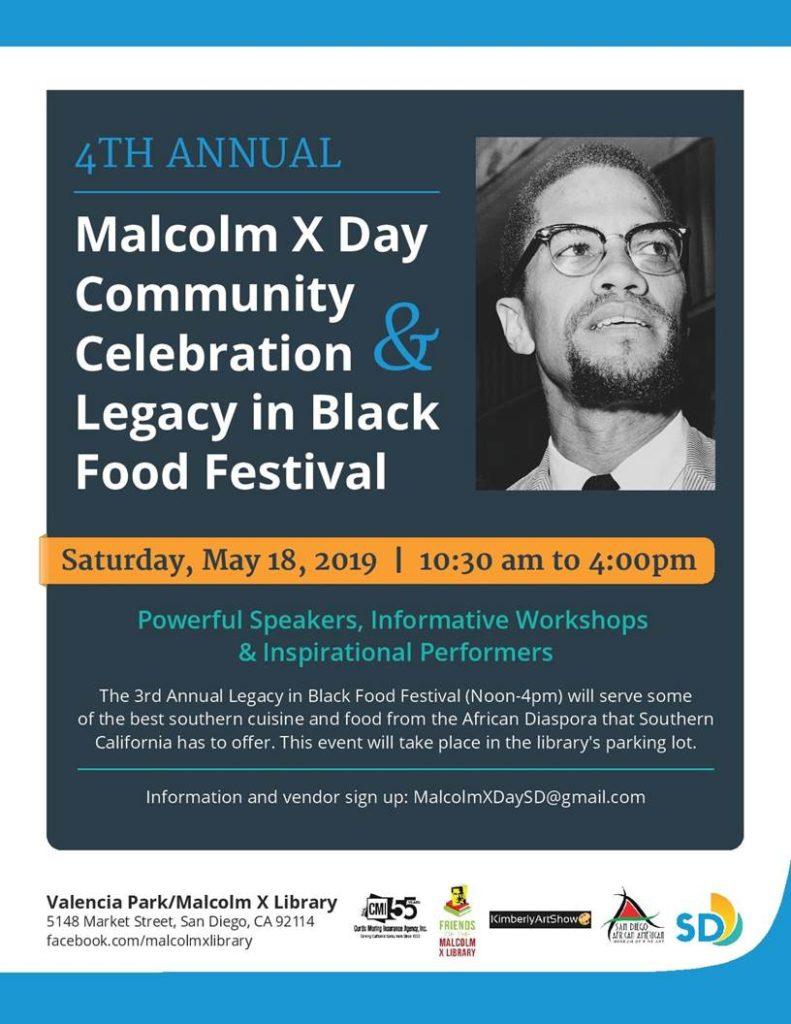 MALCOLM X BIRTHDAY CELEBRATION @ Malcolm X library