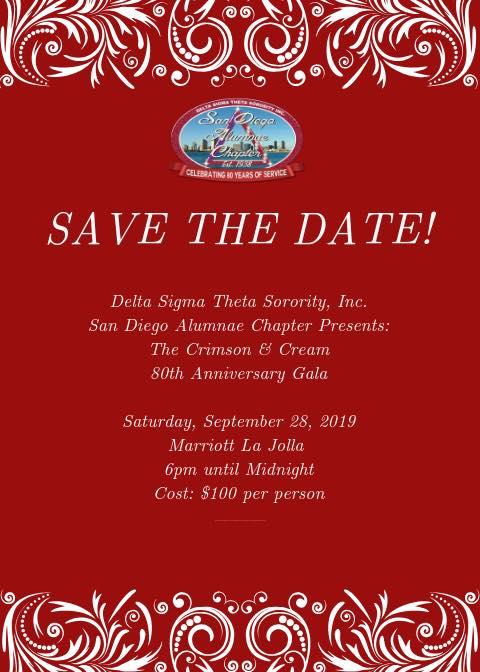 The Crimson & Cream 80th Anniversary Gala @ San Diego Marriott La Jolla