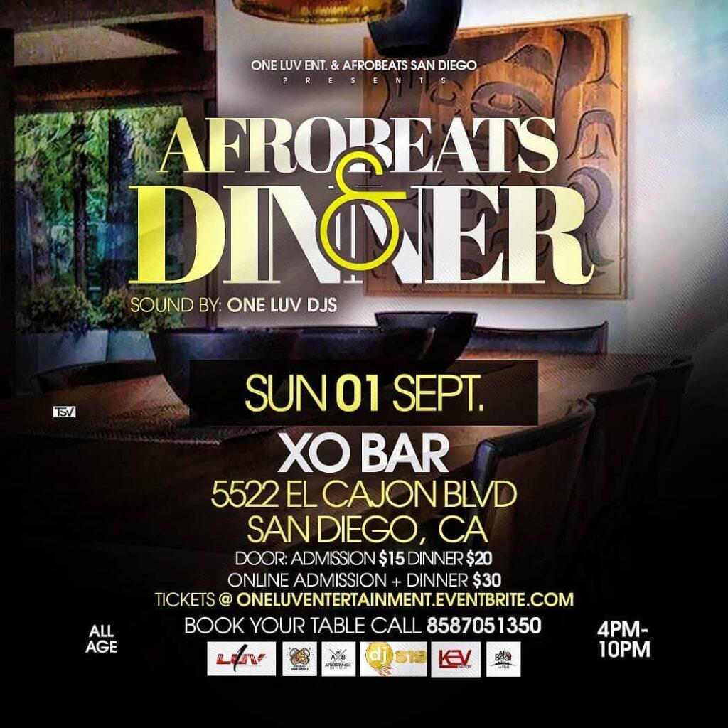 AFROBEATS & DINNER - DAY PARTY @ Xo Bar & Restaurant