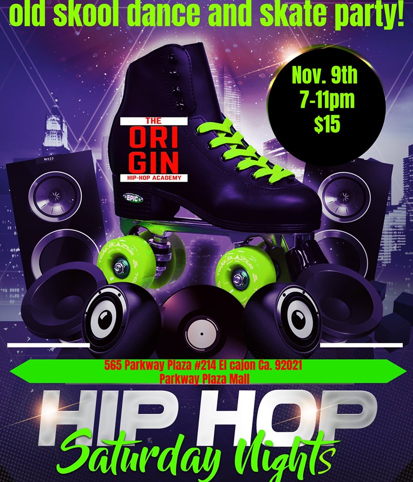Old Skool Hip Hop Dance and Skate Party @ The Origin Hip Hop Performing Arts Academy
