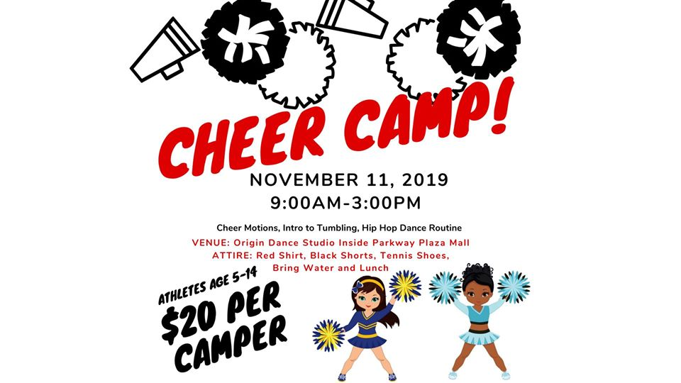 Veterans Day Cheer Camp @ The Origin Hip Hop Performing Arts Academy