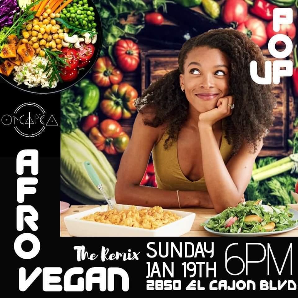 AfroVegan POP UP @ Freshly Faded