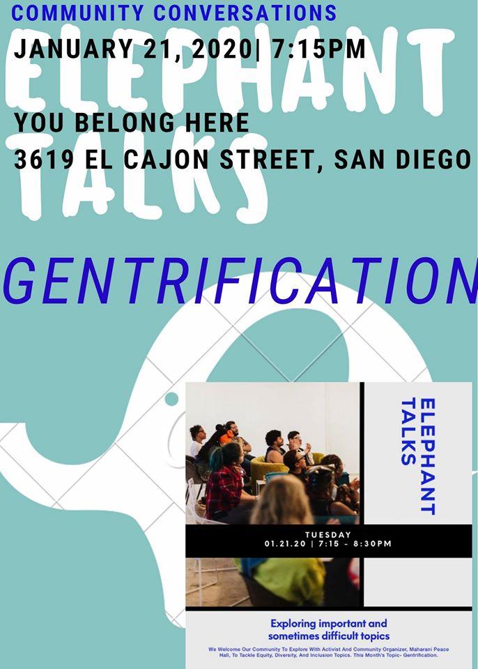 Elephant Talks: Gentrification @ You Belong Here