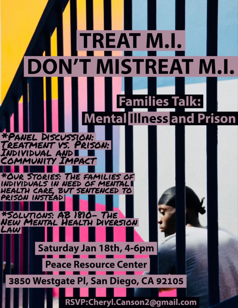 Families Talk: Mental Illness & Prison @ Peace Resource Center