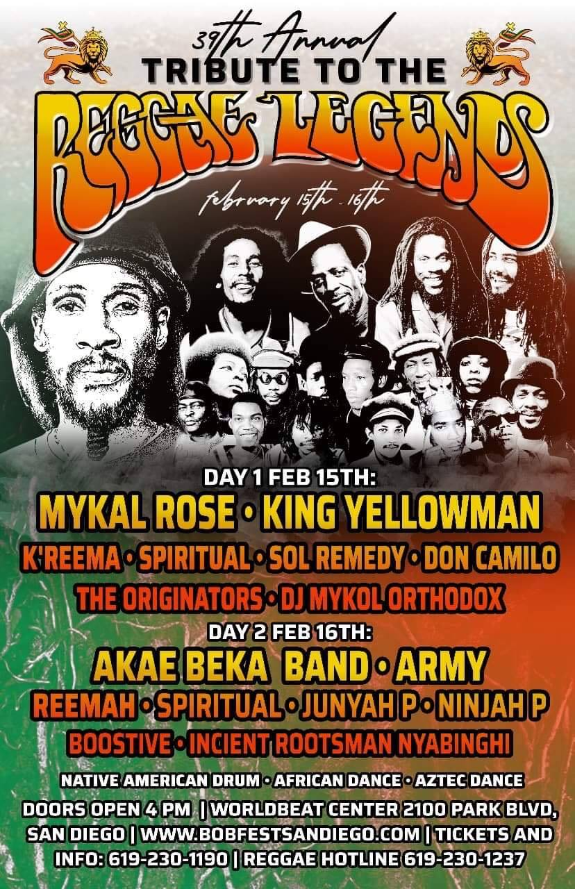 The 39th Annual Tribute to the Reggae Legends @ WorldBeat Cultural Center