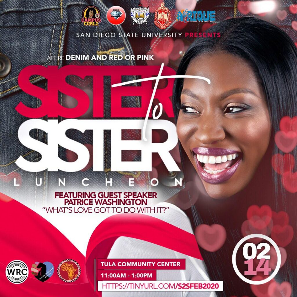 SDSU Sister to Sister Luncheon @ tula community center sdsu campus