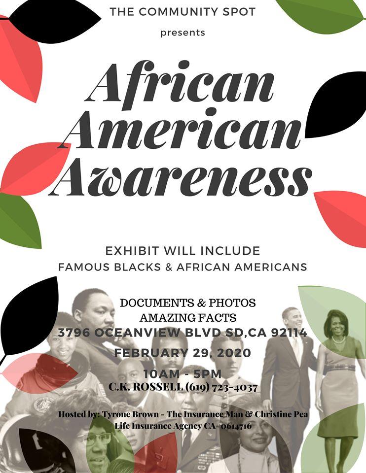 African American Awareness Event! @ Community Spot