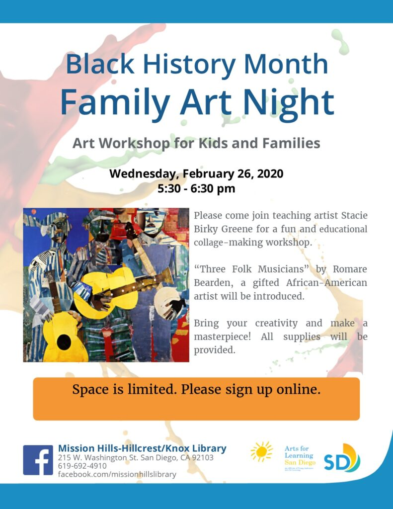 Black History Month Family Art Night @ Mission Hills Library