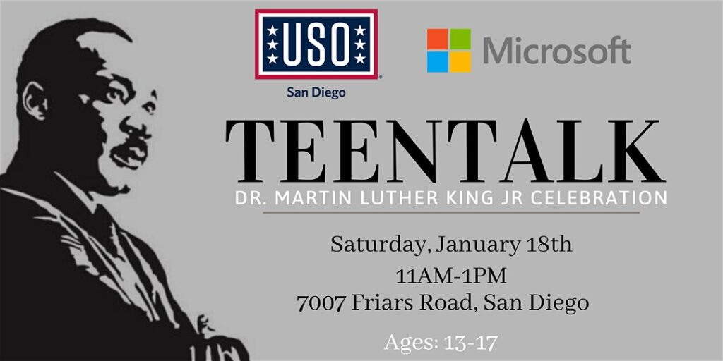 TEENTALK- Dr. Martin Luther King Jr Celebration with Microsoft @ Fashion Valley- Microsoft Store