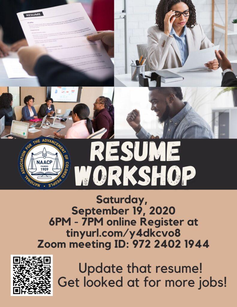 Resume Workshop @ Virtual Event