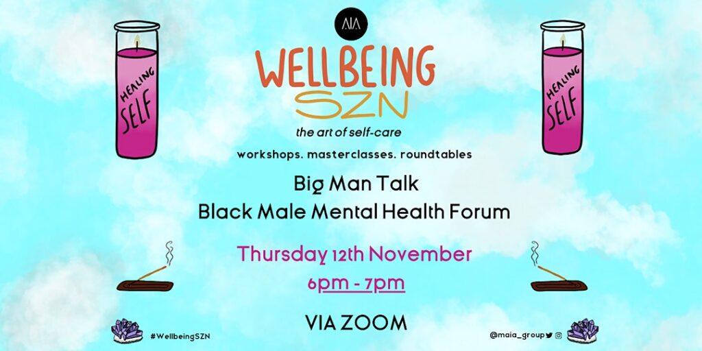 Big Man Talk - Black Male Mental Health Forum @ Online Event