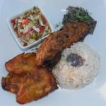 "Air Fried Haitian \""Fish\"" made with banana  blossoms GF"