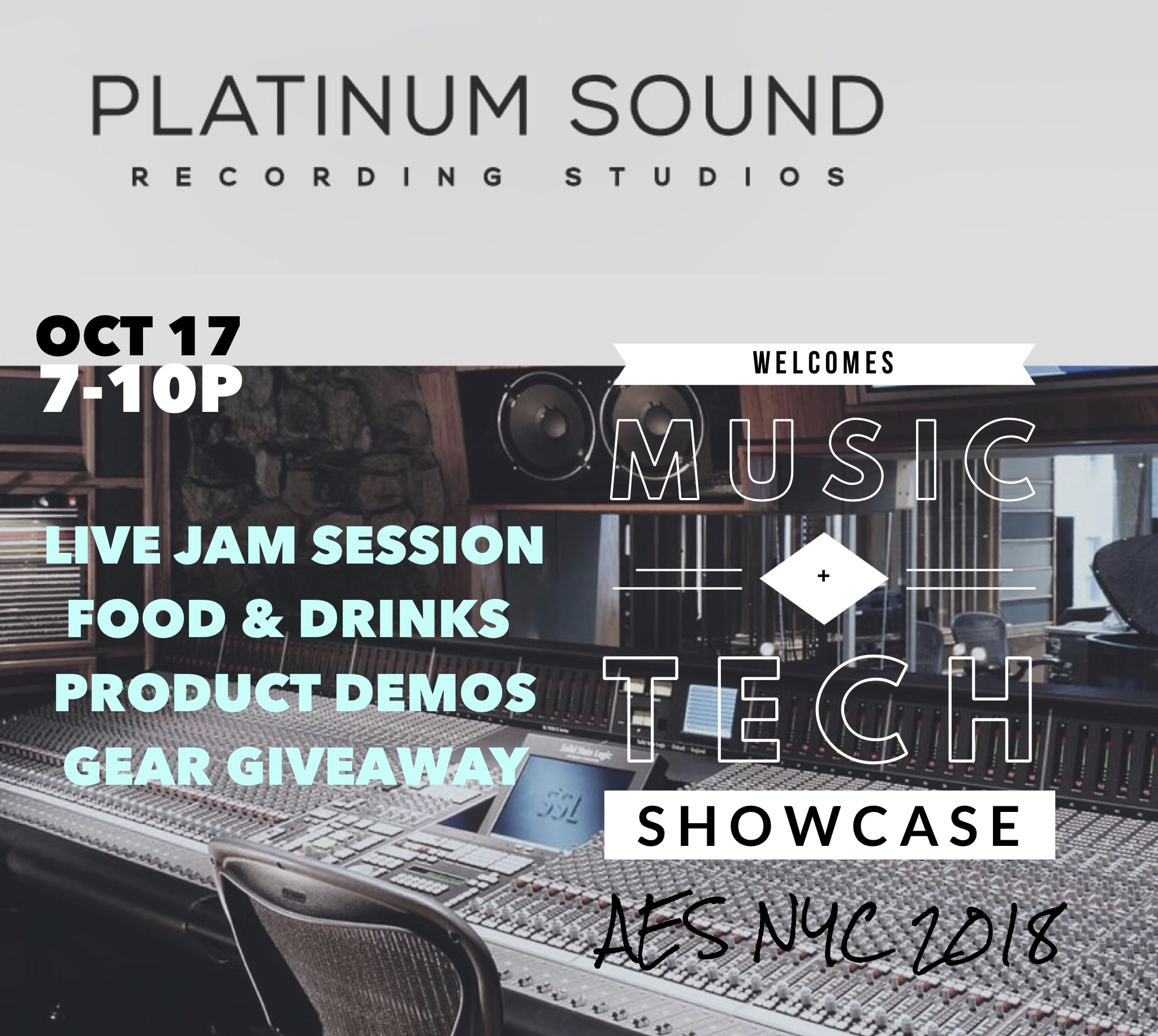 AES NYC '18 AfterParty at Platinum Studios