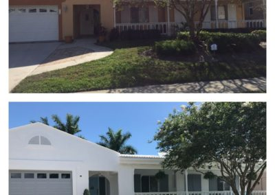 Marco Island Residence Before and After painting by Ace Performance Plus Painting