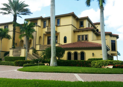 Exterior House Painting - Multi-level home in Naples, Florida - aceperformanceplus.com