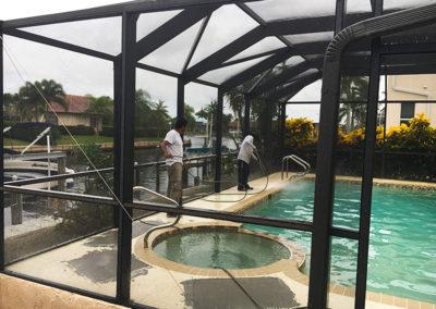Pressure Washinging: pool deck - aceperformanceplus.com