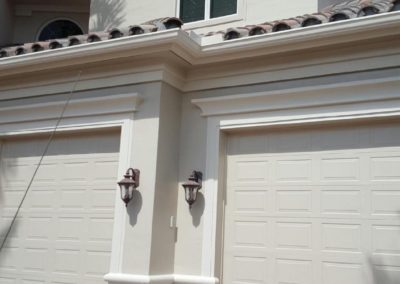 Garage doors professionally painted