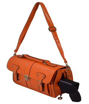 Orange Crossbody/Shoulder Concealed Carry Handbag