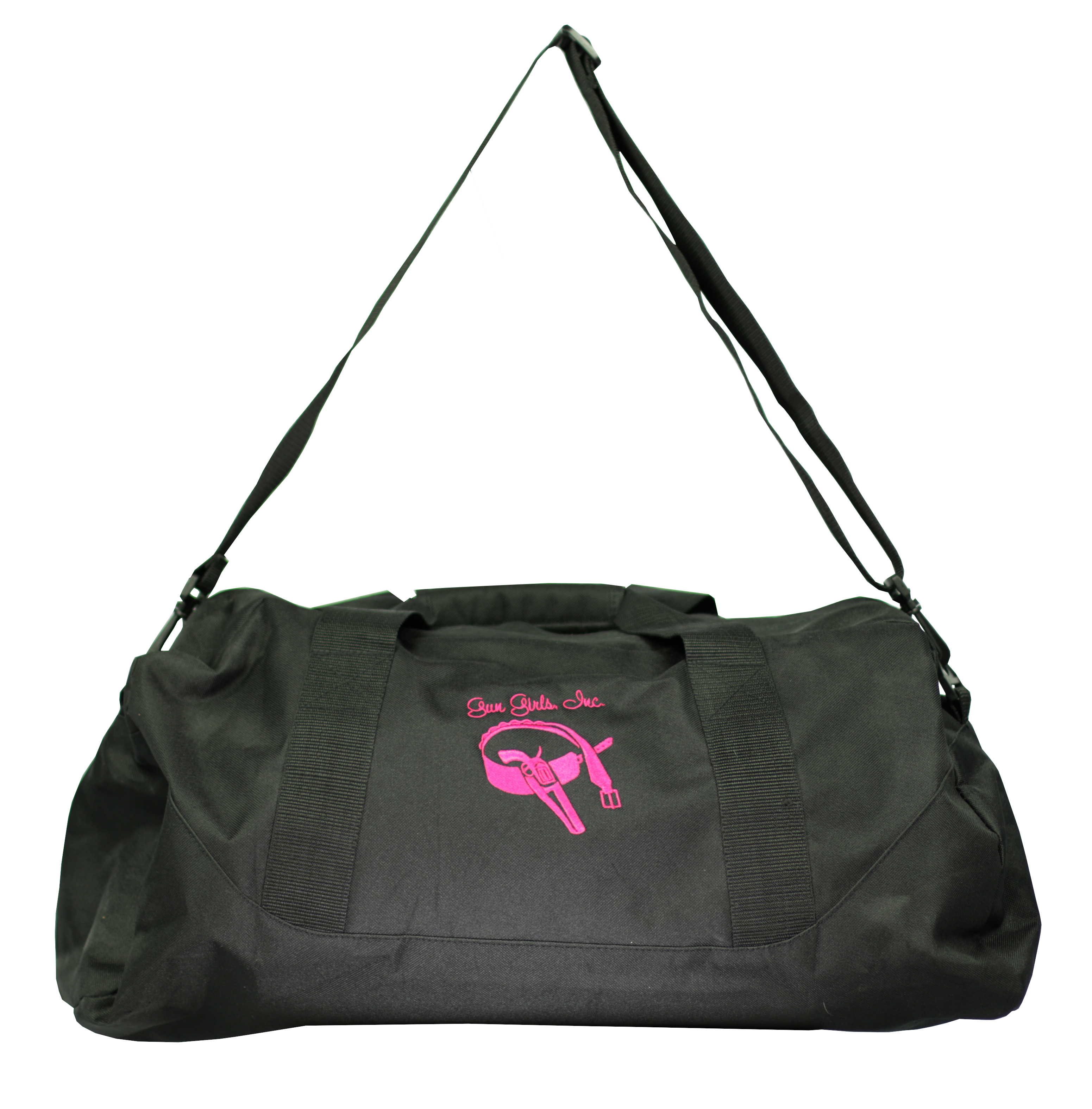 BLACK EMBROIDERED CUSTOM LOGO GYM/DUFFLE BAG