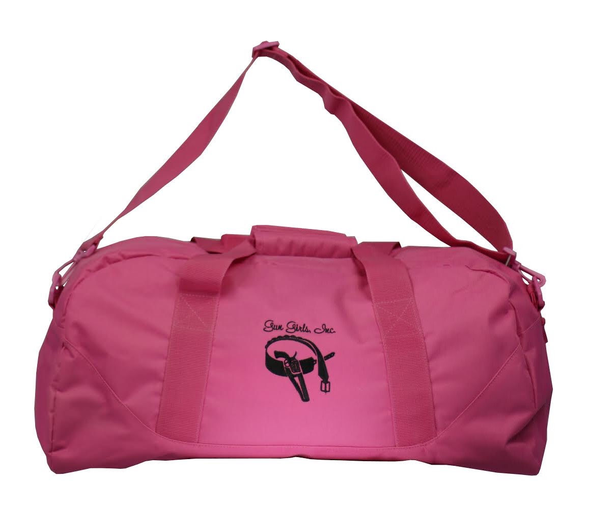 HOT PINK EMBROIDERED CUSTOM LOGO GYM/ DUFFLE BAG