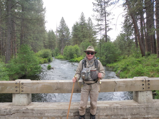 Dave Dropped Off to Fish Metolius on Tuesday Morning