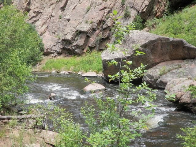 Pretty Stretch Near Canyon Wall