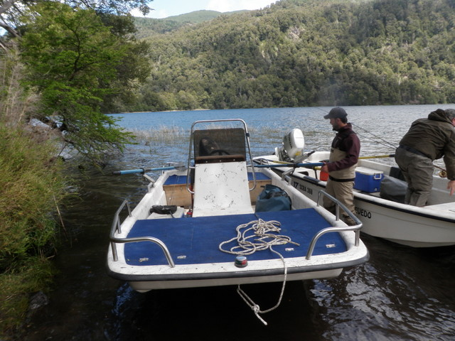 Our Boat for Fishing Lago Fonck on Monday