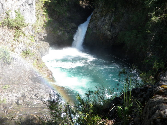 A Secondary Falls with a Rainbow in the Foreground