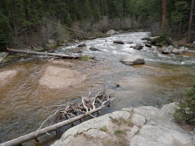 Starting Point on South Boulder Creek on Tuesday Evening