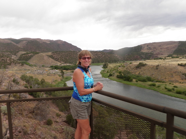 Jane at the Little Hole Overlook of Green River