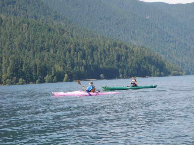 Kayaks on Lake Crescent