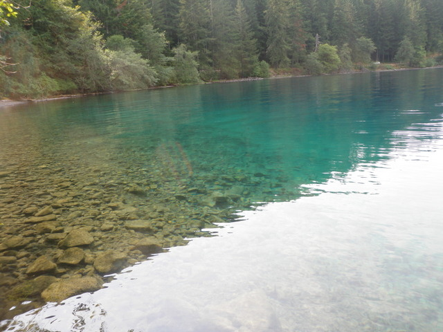 Blue Color of Lake Crescent on Tuesday Afternoon