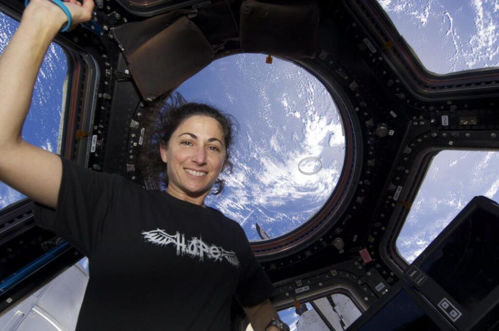 Nicole Stott Watching Earth from the ISS