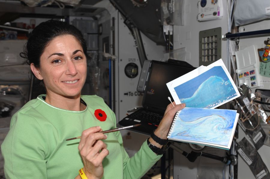 Painting in the ISS