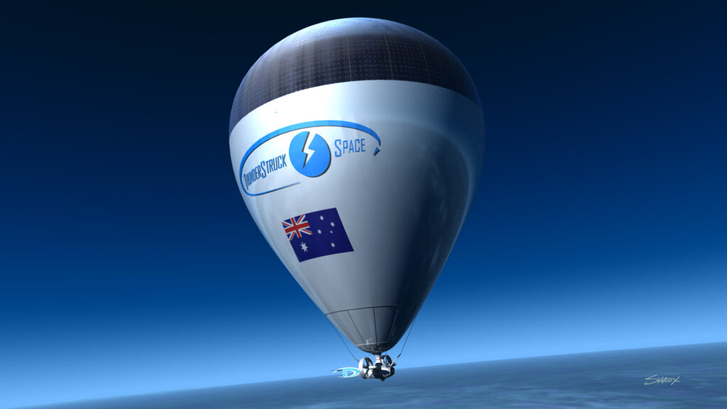 StratoDrone with Logo and Flag