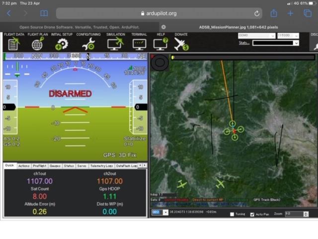 Ardupilot Laptop View