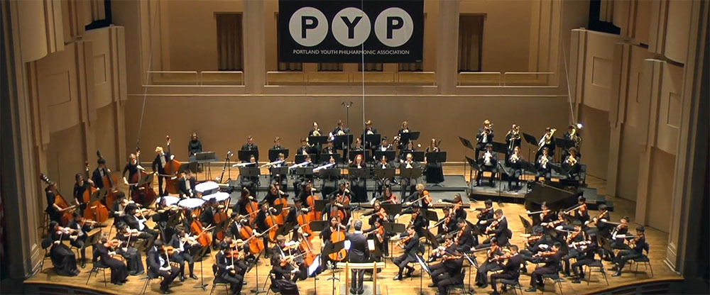 photo of the Portland Youth Philharmonic in performance