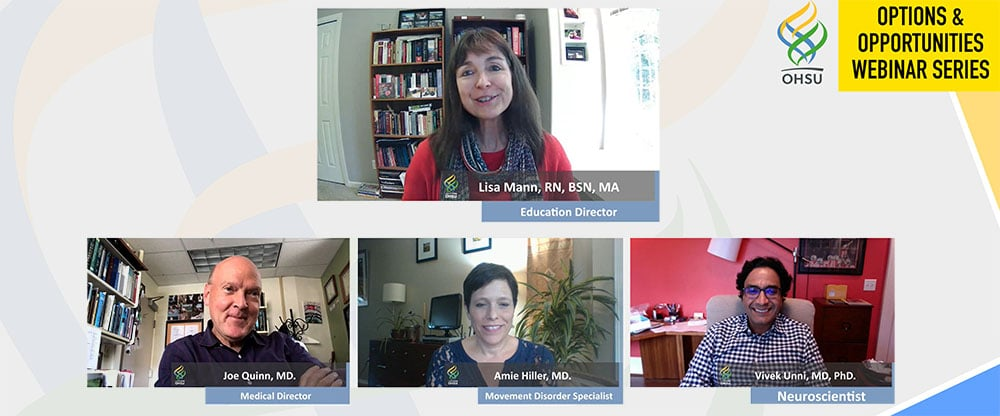 a panel of experts is shown during a livestream virtual conference