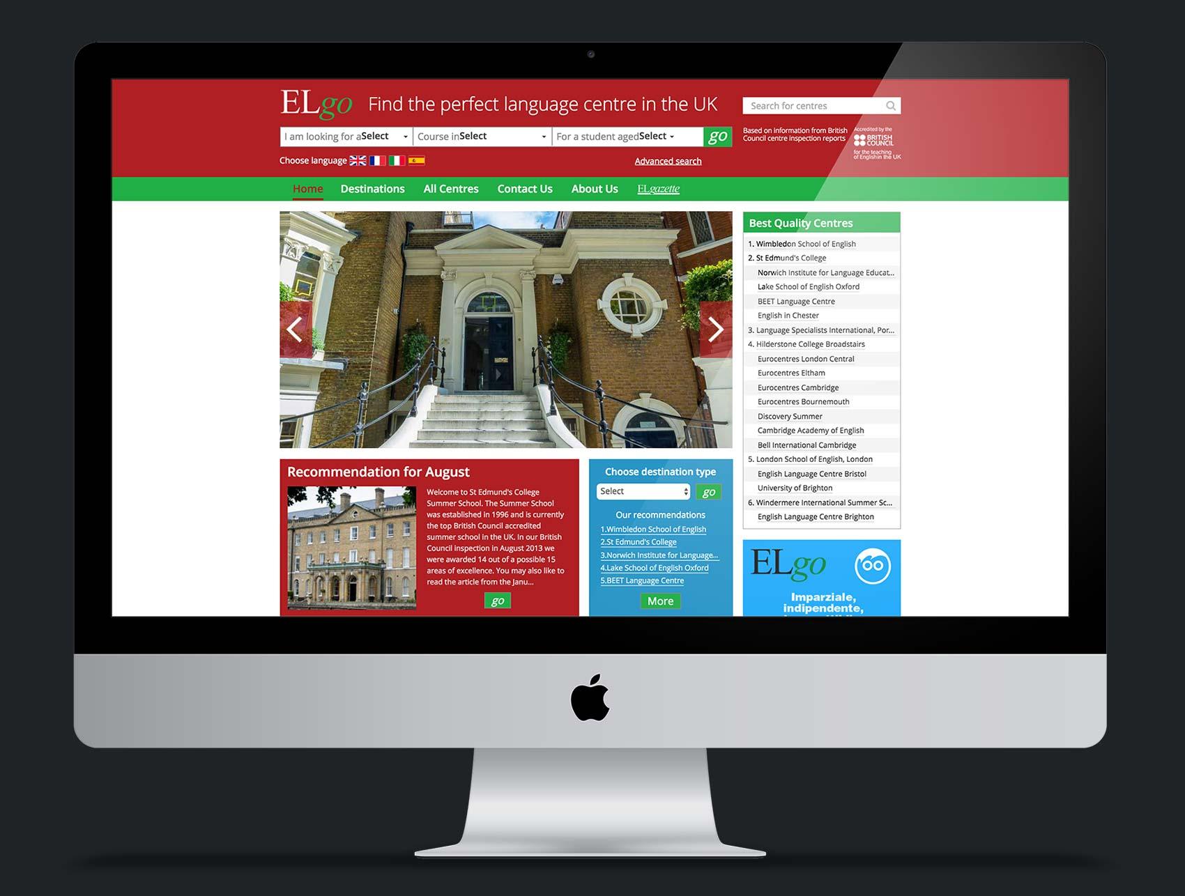 ELgo website design. UX and UI