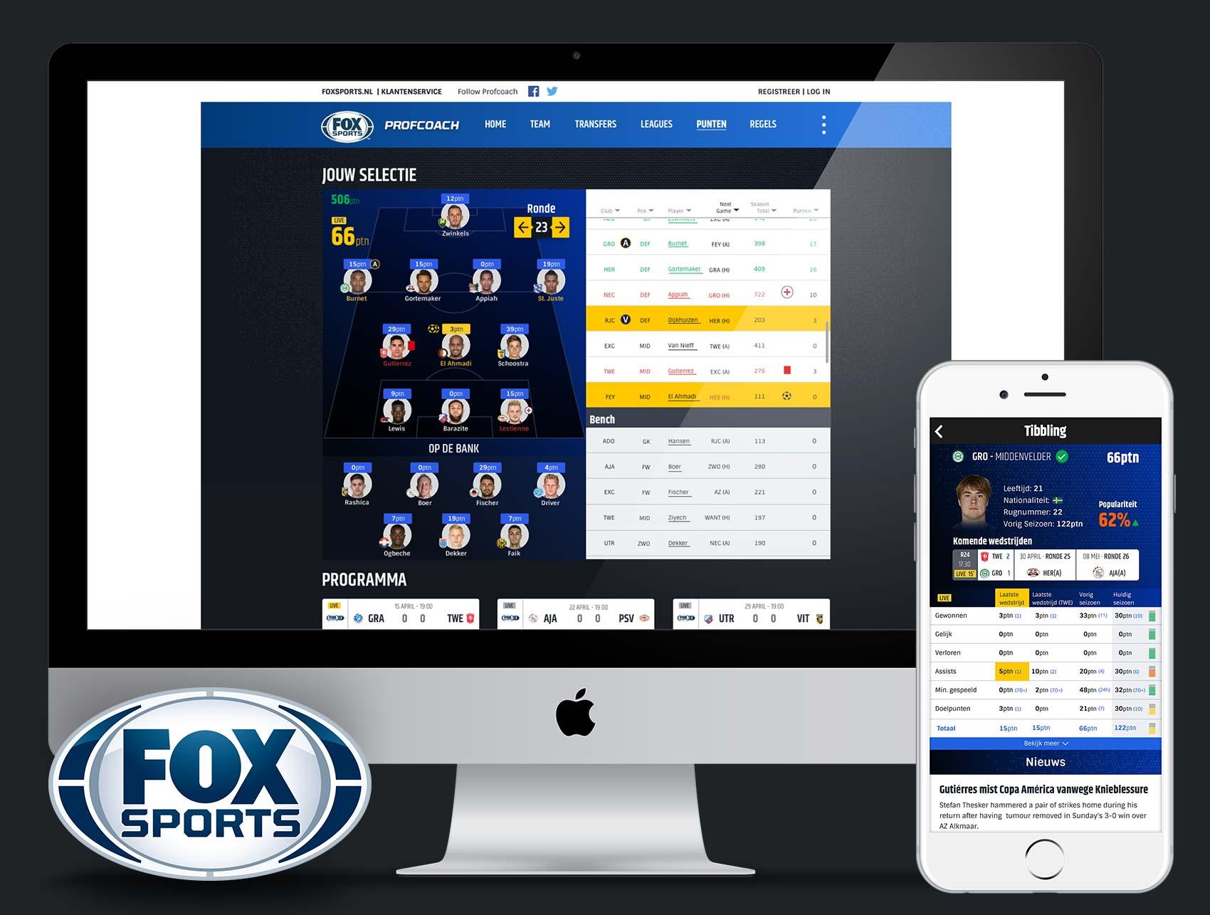 Fox Sports: Profcoach, Eredivisie Fantasy Football Game