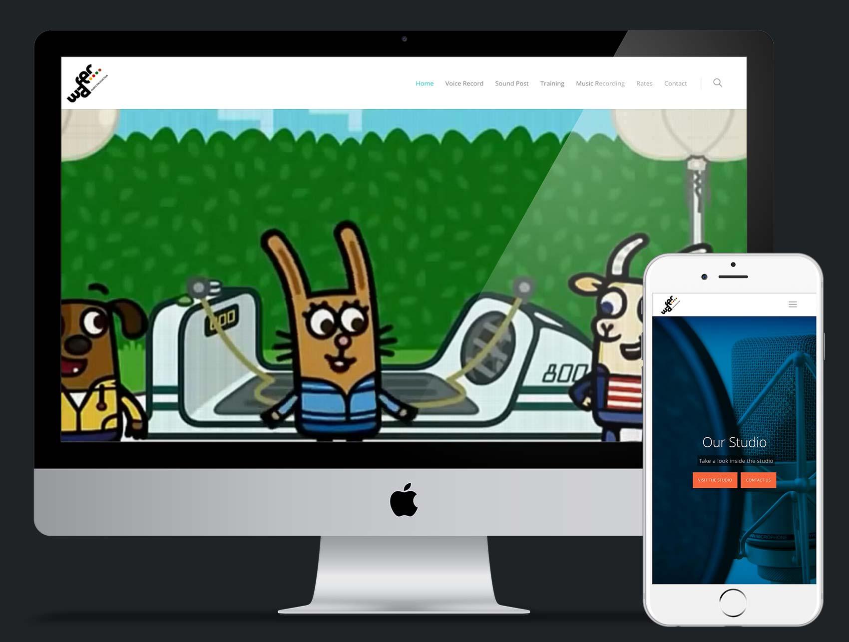 Wafer Audio website design and build using Wordpress