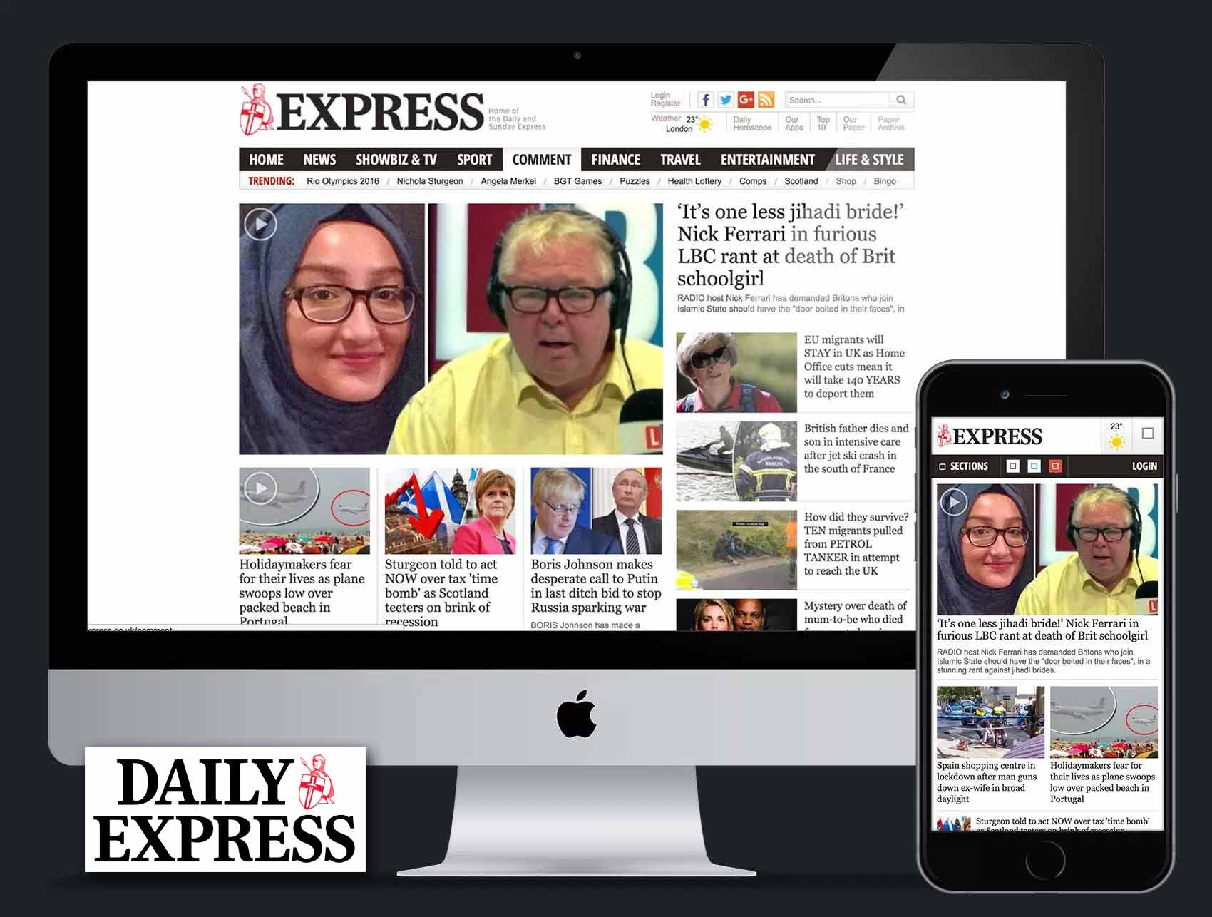Daily Express: Mobile-First Website Redesign