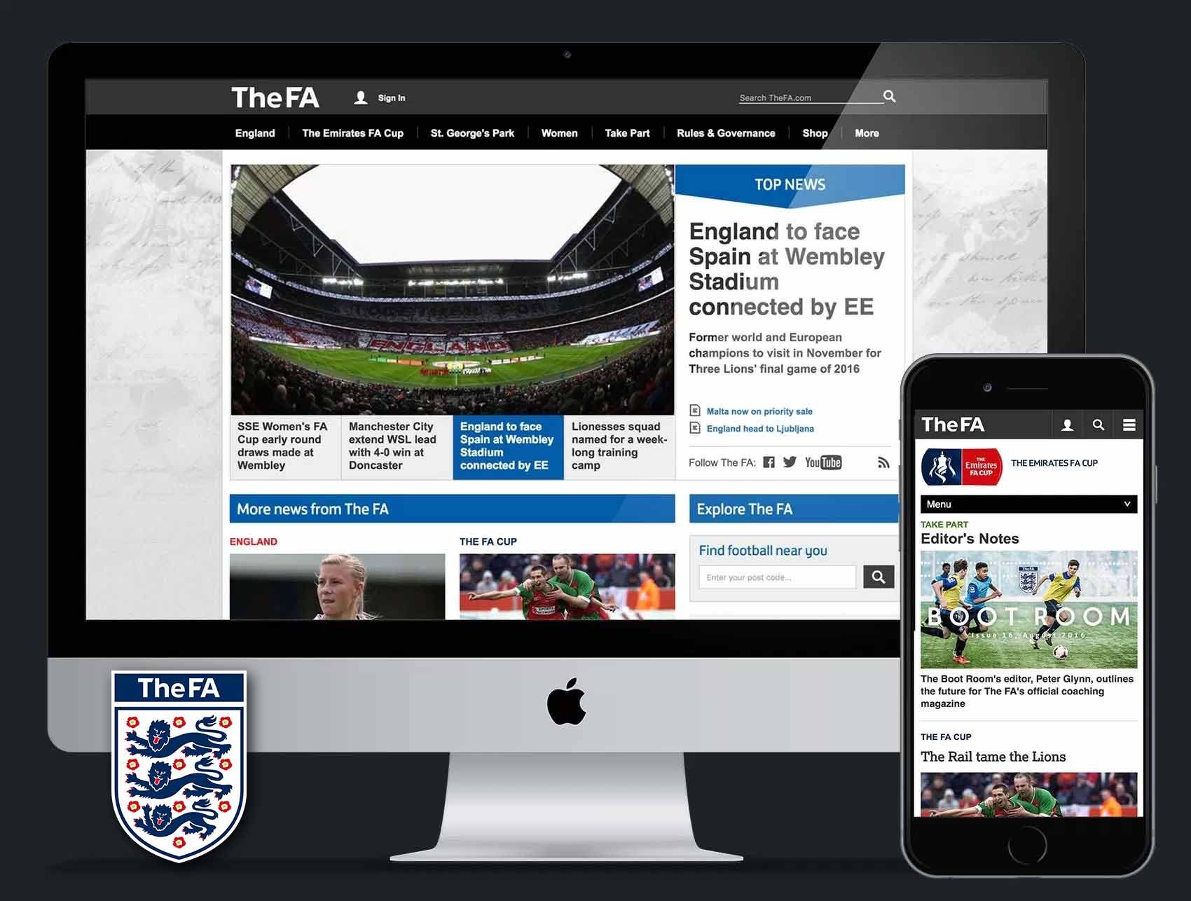 TheFA.com (The Football Association): UX & UI