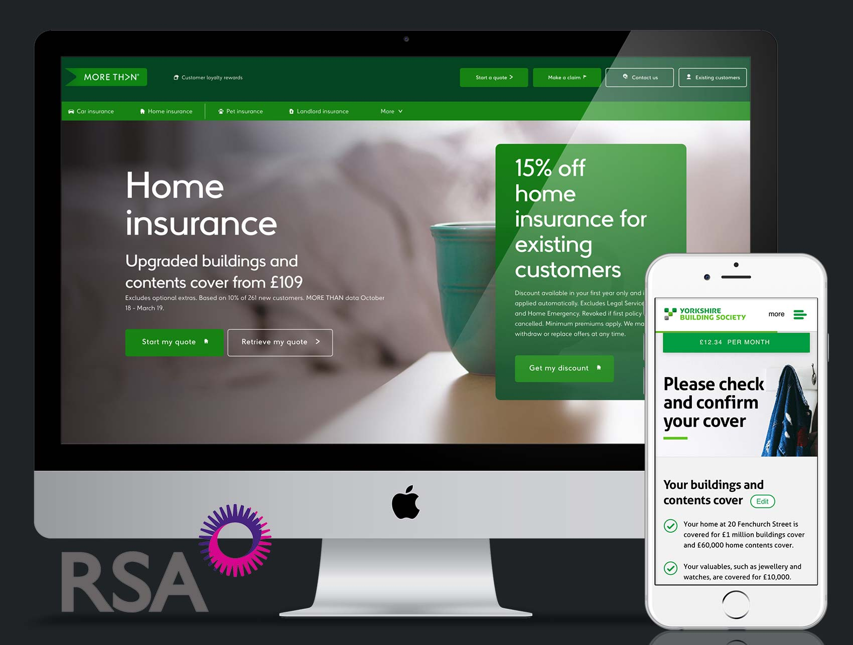 RSA Insurance Group – Senior UX/UI Designer & Design System